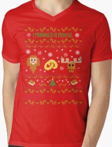 I Married A Moose Christmas Sweater Mens V-Neck T-Shirt