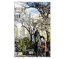 Montmartre 10 in colour Photographic Print