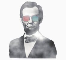 Abraham Lincoln 3d glasses  One Piece - Short Sleeve