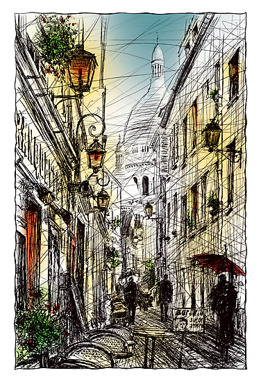 Montmartre 11 in colour by Tatiana Ivchenkova