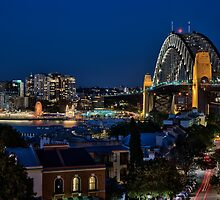 Sydney Harbour Bridge from Observatory Hill by Chris  Randall