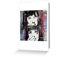 Mia Wallace - Pulp Fiction Greeting Card