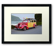 1937 Ford Woody Wagon Framed Print