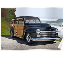 1948 Plymouth Special Deluxe Woody Wagon Poster