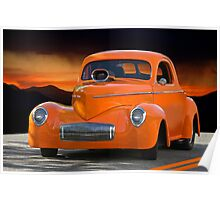 1941 Willys Coupe Poster