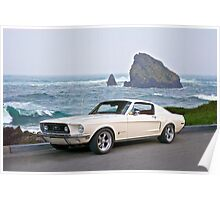 1964 Ford Mustang Fastback Poster