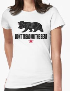 Don't Tread on the Bear Womens Fitted T-Shirt