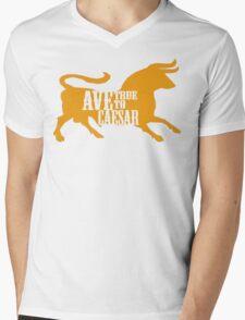 Ave, True to Caesar Mens V-Neck T-Shirt