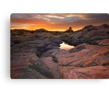 Rock Swept Canvas Print