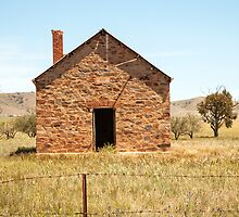 Abandoned stone cottage in the countryside by Jess Gibbs