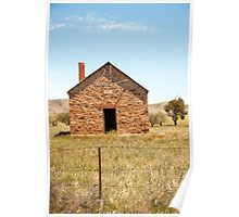 Abandoned stone cottage in the countryside Poster