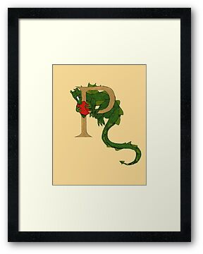 "Oscar and the Roses ""P"" (Illustrated Alphabet) by Donna Huntriss"
