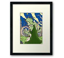 Green genie Framed Print