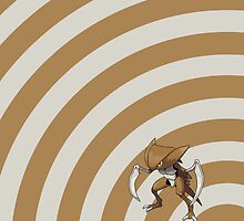 Pokemon - Kabutops Circles iPad Case by Aaron Campbell