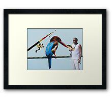 <º))))>< KING FISHER THE QUES IS WHO IS THE REAL KING FISHER WHO CAUGHT THIS FISH? LOL READ DESCRIPTION HUGS <º))))><      Framed Print