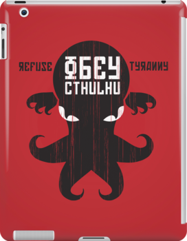 Refuse Tyranny, Obey Cthulhu - Dark Shirt by RetroReview