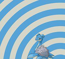 Pokemon - Lapras Circles iPad Case by Aaron Campbell