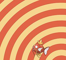 Pokemon - Magikarp Circles iPad Case by Aaron Campbell