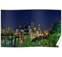 Brisbane River at Kangaroo Point Poster