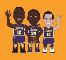 NBAToon of Kobe Bryant, Dwight Howard, Steve Nash, player of Los Angeles Lakers by D4RK0