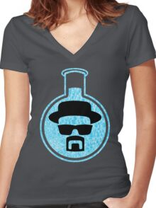 Crystal Blue Persuasion Women's Fitted V-Neck T-Shirt