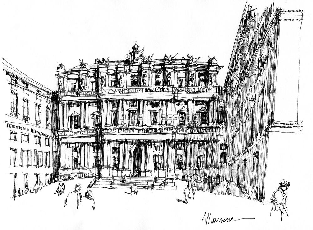 Il Palazzo Ducale di Genova by Luca Massone  disegni