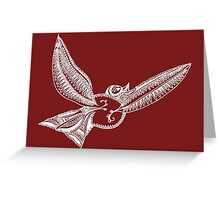 Journey Bird Flight White Greeting Card
