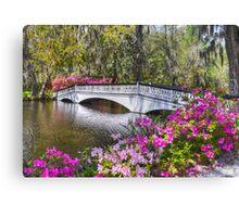 The Bridge At Magnolia Plantation Canvas Print