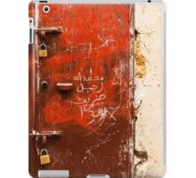 Red Textured Door in Morocco iPad Case/Skin