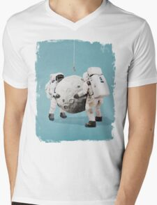 Hanging the moon Mens V-Neck T-Shirt