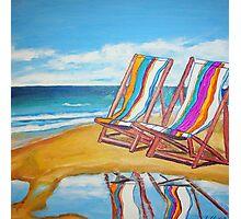 Beach Chair Reflection Photographic Print