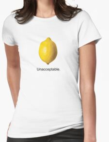 Unacceptable. Womens Fitted T-Shirt