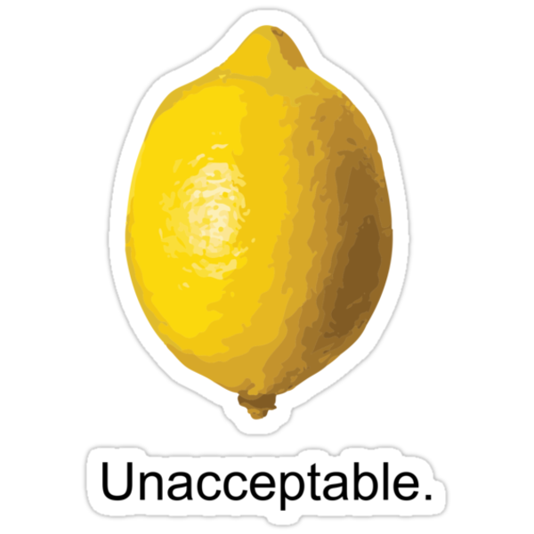 Unacceptable. by Tanner Johnston