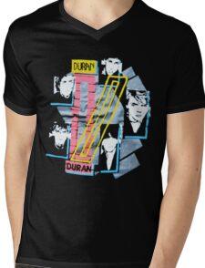 DURANDURAN Mens V-Neck T-Shirt