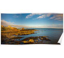 Bass Rock from Dunbar Scotland Poster