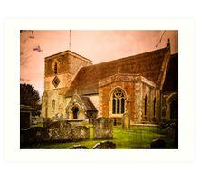 St Mary's Church Kintbury Berkshire Art Print