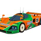 Mazda 787B art print by RacingColour