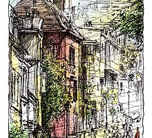 Montmartre 15 in colour by Tatiana Ivchenkova