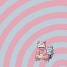 Pokemon - Slowbro Circles iPad Case by Aaron Campbell