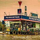 Gas Station Vietnam Style by mlphoto