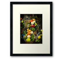 Fruit and Veg Display Framed Print