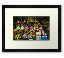 Cambodian Flower Seller Framed Print