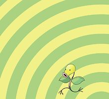 Pokemon - Bellsprout Circles iPad Case by Aaron Campbell