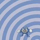 Pokemon - Poliwrath Circles iPad Case by Aaron Campbell