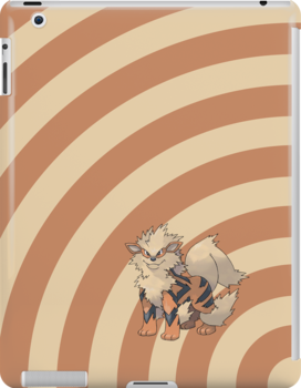 Pokemon - Arcanine Circles iPad Case by Aaron Campbell