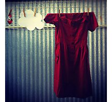 Red Dress Photographic Print