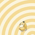 Pokemon - Psyduck Circles iPad Case by Aaron Campbell