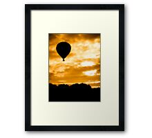 Balloon Rise Framed Print