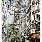 Paris 5 in colour by Tatiana Ivchenkova
