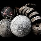 vintage buoys by seagrass-cowes